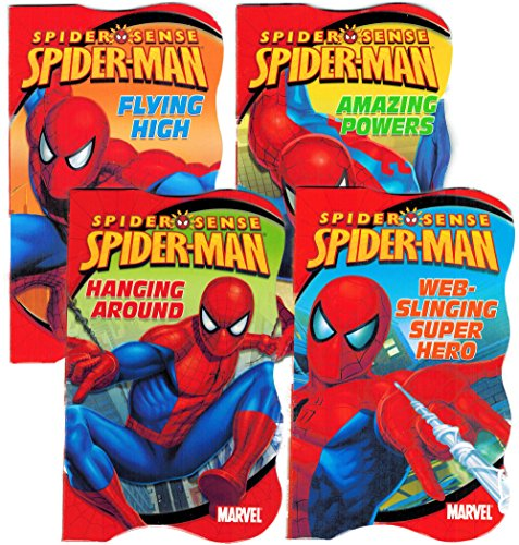 Spiderman Shaped Board Books (Set of 4) - 1