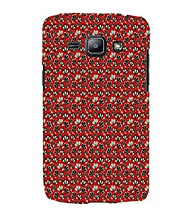 iFasho Modern Art Design animated cloth Pattern of flower Back Case Cover for Samsung Galaxy J1 (2016 Edition)