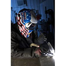 3M Speedglas American Pride Welding Helmet 100 with Auto-Darkening Filter 100V, Welding Safety 07-0012-31AP/37238(AAD)