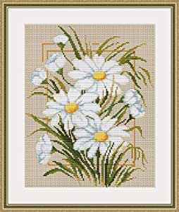 Amazon.com: Luca-S Counted Cross Stitch Kit - Camomiles