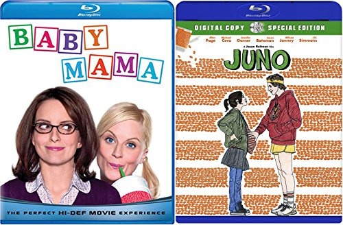 Baby Mama & Juno Double Feature Blu Ray Fun Comedy movie Set Combo Edition