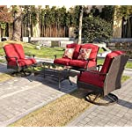 Better Homes and Gardens Powder-Coated Steel with Cushions Providence 4-Piece Patio Conversation Set,Seats For 4, And Tempered Smoked Glass Table,Perfect For Outdoor.