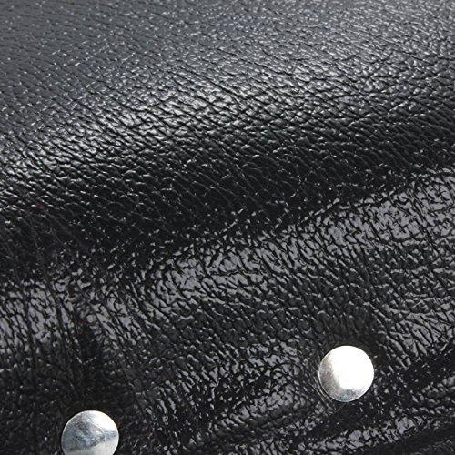 OUTERDO Bicycle Bike Vintage Imitation Leather Dual Coil Spring Rear Saddle Seat Black 6