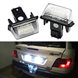 NSLUMO 2pcs 12V Led License Plate Light Lamp Bulbs For Peugeot 206 207 306 307 308 406 407 5008 Partner Citroen C3 C3 Ii C3 C4 C5