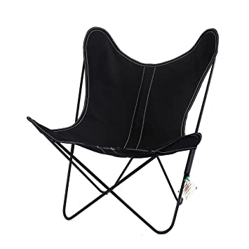 Sessel AA Butterfly–Struktur Schwarz, Tasche Leinwand schwarz