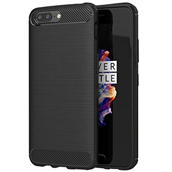 hot sale online 2071c 9bf04 CareFone OnePlus 5 Back Cover Carbon Fiber Shock Proof Rugged Armor Case  with Metallic Brush Finish For OnePlus 5 (Carbon Fibre Black)