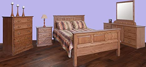 Forest Designs Traditional Oak Five Drawer Chest: 34W x 48H x 18D (No Bed, Dresser, Mirror or Nightstand) 34w x 48w x 18d Whitewash Oak