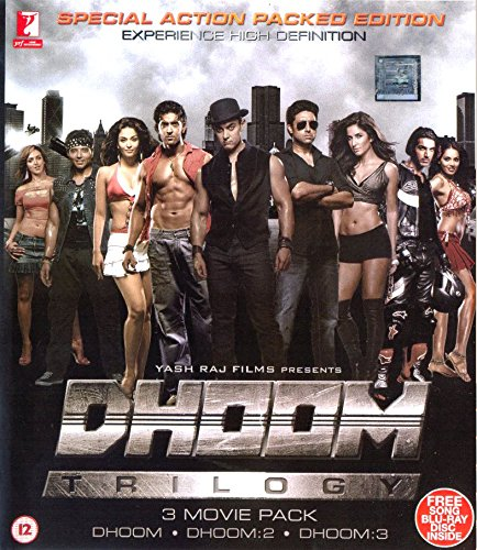 DHOOM TRILOGY BLU RAY PACK WITH FREE SONG BLU RAY PACK (DHOOM + DHOOM 2 + DHOOM 3 BLU RAY) (Dhoom 2 compare prices)
