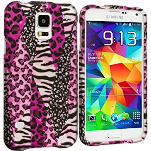 Accessory Planet(TM) Bowknot Zebra 2D Hard Snap-On Design Rubberized Case Cover Accessory for Samsung Galaxy S5