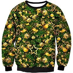 7129dc65e09 LETSQK Men s Funny Festive Santa Claus Tree Merry Ugly Christmas Sweater  Tree01