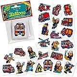 24 Mini-Tattoos * Feuerwehr * von LUTZ MAUDER // 47301 // Feuerwehrauto Feuerwehrmann Geschenk Tattoo Kindertattoos