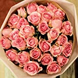 バラの花束 60本 カラー:ピンク フラワーギフト 誕生日 結婚記念日 プレゼント 彼女 女性 母の日 クリスマス バレンタイン ホワイトデー