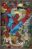 Marvel Retro Spider Man Maxi Poster, Multi-Colour