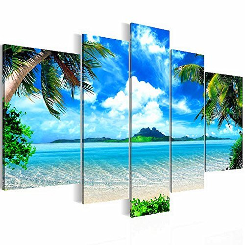 bilder kunstdrucke prestigeart 6033527a bild auf vlies leinwand paradise insel 170 x 100 cm. Black Bedroom Furniture Sets. Home Design Ideas