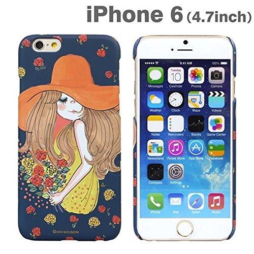 iPhone6 ケース カバー 水森亜土 iPhone 6 / 4.7 インチ inch キャラクター ハード タイプ / ボウシ / バラ