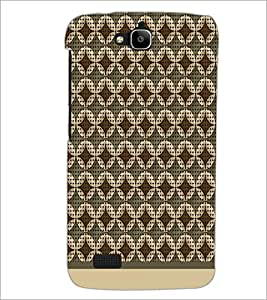 PrintDhaba Pattern D-1577 Back Case Cover for HUAWEI HONOR HOLLY (Multi-Coloured)