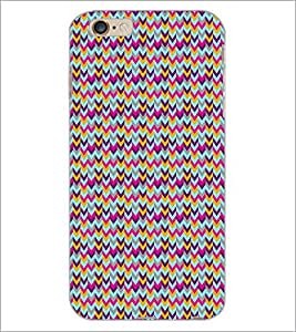 PrintDhaba ZigZag Pattern D-5908 Back Case Cover for APPLE IPHONE 6 (Multi-Coloured)