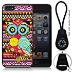 Oksobuy® -The New Apple Iphone 5 Aztec Style and Maya Style Background with Colorful Cute Fashion Owl Case Cover Skin Protection for the Iphone 5 (Iphone 5 Case,black)-0317