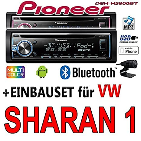VW Sharan 1 - Pioneer DEH-X5800BT - CD/MP3/USB Bluetooth Autoradio - Einbauset
