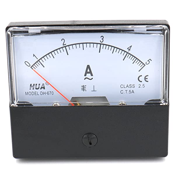 Baomain Ammeter DH-670 AC 0-5A Rectangular Ampere Needle Panel Meter Gauge Amperemeter