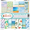 Ella & Viv Watercolor Beach Scrapbook Collection Kit