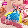 Sisbay Kids Disnep Cartoon Bedding for Boys Girls,Twin Full Queen Size Princess Duvet Cover, Modern Fashion Print Bed Set