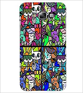 PrintDhaba Graffiti D-4759 Back Case Cover for SAMSUNG GALAXY A8 (Multi-Coloured)