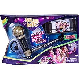 SelfieMic with Adjustable Selfie Stick With Working Microphone, Earpiece and Free App