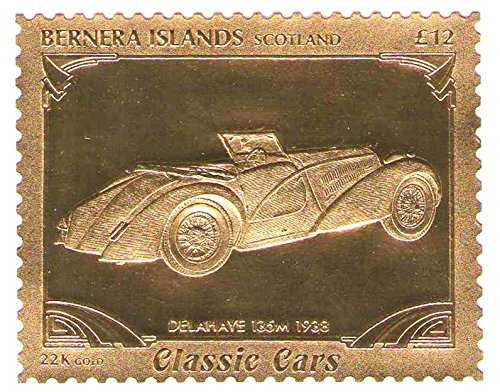 22k-carat-gold-leaf-auto-classic-cars-stamps-delahaye-135m-1938-bernera-islands-scotland-mnh