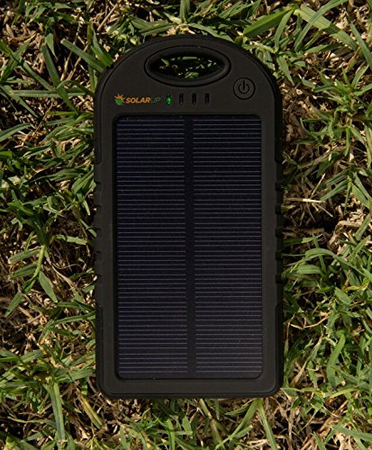 Solar Charger SunLite  Portable. 5000mAh Water/ Shock/ Dust Resistant Power Bank. Fits most USB devices, Ipods, Ipads, Samsungs, most Smart phones, Gopro, GPS, MP3, MP4