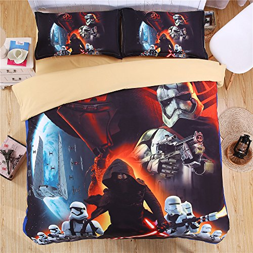 Lotus Karen Home 2016 New Microfiber 3D Oil Painting Printing Bedding Sets,Marilyn Monroe,Star Wars,nightmare before christmas bedding,4-piece inclueds 1Duve Cover,1Bedsheet,2Pillow Shames (Star Wars Quilt Queen compare prices)