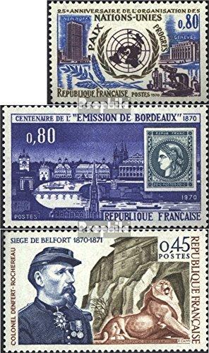 France 1729,1730,1731 (complète.Edition.) 1970 timbres spéciaux (Timbres pour les collectionneurs)