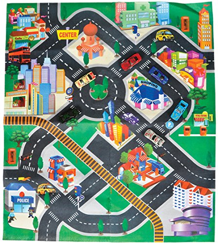 Toy-Vehicles-and-Mat-Play-Set-6-Vehicles-Included