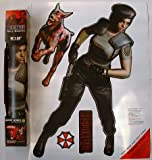 Resident Evil Wall Graffix 2ft+ tall JILL VALENTINE 4 piece set