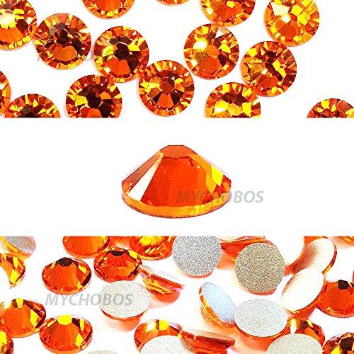 SUN (248) orange Swarovski NEW 2088 XIRIUS Rose 34ss 7mm flatback No-Hotfix rhinestones ss34 18 pcs (1/8 gross) *FREE Shipping from Mychobos (Crystal-Wholesale)*