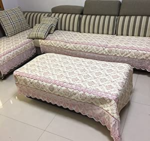 Quilted And Lace Custom Sectional Sofa Couch
