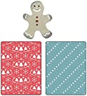 Sizzix Textured Impressions Embossing Folders with Bonus Sizzlits Die - Snow & Trees Set by BasicGrey