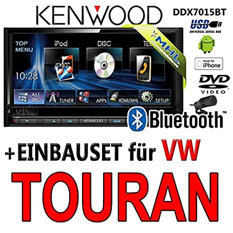 Kenwood pour vW touran dDX7015BT 2-dIN multimédia hDMI/mHL dVD bluetooth uSB avec kit de montage