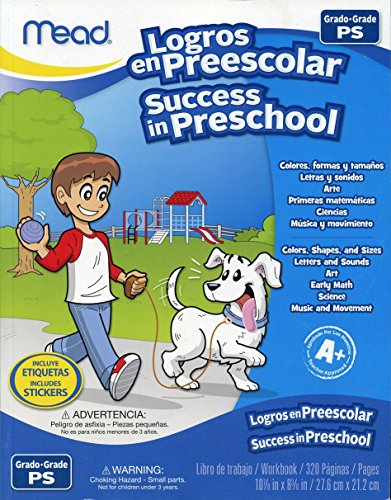 Mead - Success In Preschool - Grade Ps - English & Spanish - 320 Page Workbook front-1076968