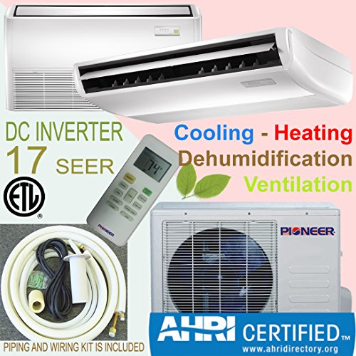 Pioneer Floor/Ceiling/Low Wall Split Inverter Air Conditioner with Heat Pump, Mini (Pioneer Mini Split 24000 compare prices)