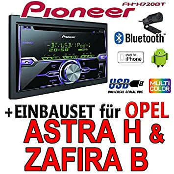 Opel astra h, zafira-fH-b-pioneer x720BT 2DIN uSB autoradio bluetooth cD pour apple iPod/iPhone-direktsteuerung de montage