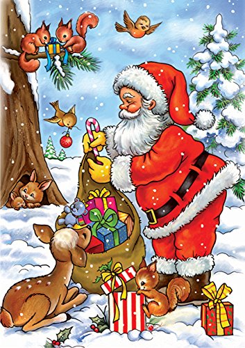 D-Toys Santa with his Animals Jigsaw Puzzle, 35-Piece
