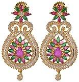 Violet & Purple Gold Alloy Dangle & Drop Earrings for Women (1000030751)