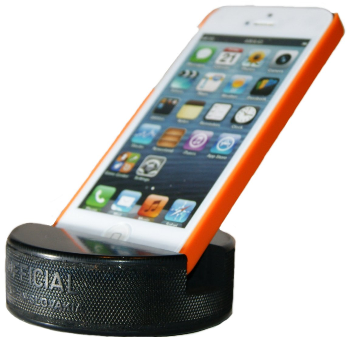 PUCKUPS - Indestructible Hockey Puck Cell Phone Stand - The Best Universal Smartphone/iPhone Xs Xs Max Xr X 8 7 6 / All Samsung Galaxy/Note/Google Pixel/PUCKUP Made From a REAL Hockey Puck