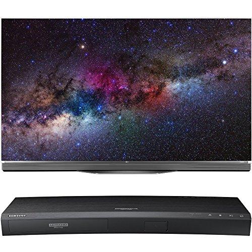 LG OLED65E6P - 65-Inch Flat 4K Ultra HD Smart OLED HDR TV with Samsung UBD-K8500 3D Wi-Fi 4K Ultra HD Blu-ray Disc Player
