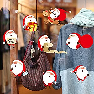 LLLDB Christmas Wall Paper Shops Glass Door Window Posters Shopping Malls Are Ornaments Snowman Elderly Xh7224 from Christmas decorations LLLDB