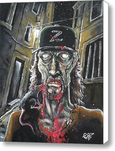 Zombie Tom Canvas Print / Canvas Art - Artist Tom Carlton