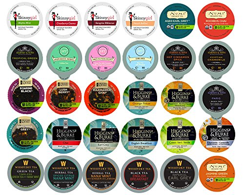 30-count TEA Single Serve Cups for Keurig K Cup Brewers Variety Pack Sampler (Keurig Tea K Cups Peach compare prices)