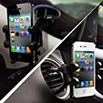 2-in-1 Mobile Phone Car Mount, Holder...