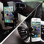 2-in-1 Mobile Phone Car Mount, Holder...